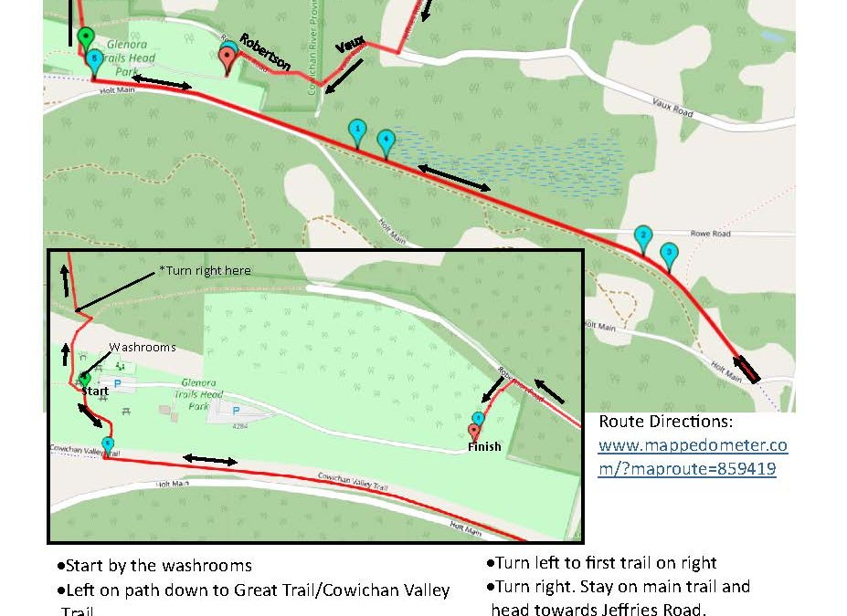 Love Your Valley's Routes – 8k with 75% or more of the route on a trail